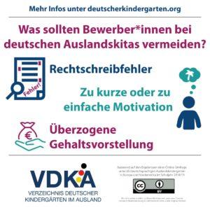 VDKA Infografik zu Bewerbungsfehlern
